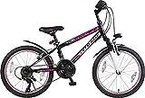 20' 20 Zoll Mädchenfahrrad Mädchenrad MTB FEDERGABEL Mountainbike JUGENDFAHRRAD Kinder Mädchen Fahrrad KINDERFAHRRAD Bike Rad Escape Schwarz Pink TYT19-020