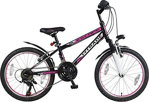 "20"" 20 Zoll Mädchenfahrrad Mädchenrad MTB FEDERGABEL Mountainbike JUGENDFAHRRAD Kinder Mädchen Fahrrad KINDERFAHRRAD Bike Rad Escape Schwarz Pink TYT19-020"