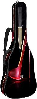 EGGDIOQ Guitar Bag Red High Heels And Champagne Gig Bag Dual Adjustable Shoulder Strap & Pocket Acoustic Guitar Case Oxfor...