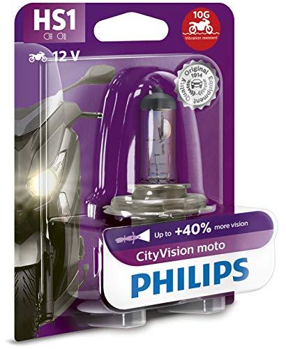 Philips 12636CTVBW City Vision Moto HS1 Motorrad-Scheinwerferlampe, 1er Blister