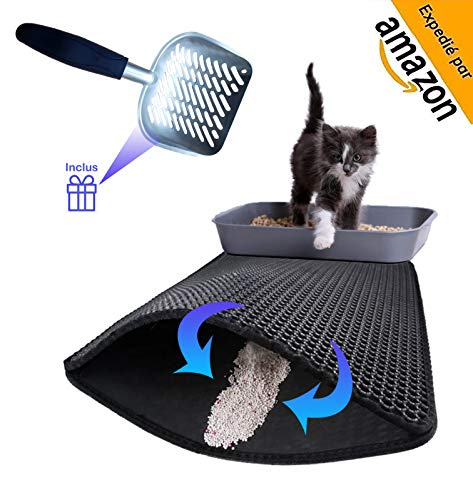 LIFEONPAW Tapis Litière pour Chat, Chatons, Taille...