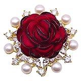 JYX brosche Blume Perlen brosche Rote Rose Brosche Süßwasserperle Brosche brosche Weihnachten