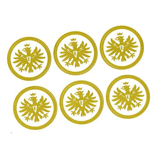 Eintracht Frankfurt Aufkleber, Autoaufkleber, Sticker 6er Set goldfarben - Plus gratis Aufkleber Forever Frankfurt
