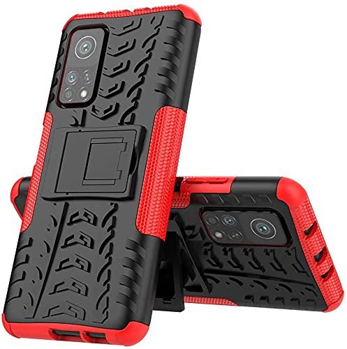Max Power Digital Funda para móvil Xiaomi Mi 10T/Mi 10T Pro Soporte Protección 360 Grados 2 en 1 Carcasa Dura Resistente Antigolpes Rugerizada Heavy Duty Armor Case (Xiaomi Mi 10T/Mi 10T Pro, Rojo)