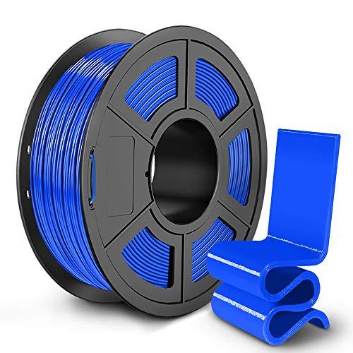 PETG 3D Printer Filament 1.75mm, SUNLU PETG Filament, Strong 3D Filament, Dimensional Accuracy +/- 0.02 mm, 1 kg Spool, Blue
