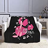 GAGADUCK Pink Panther Air Conditioning Blanket, Super Soft Light Weight Fuzzy Throw Blankets for Bed Couch Sofa