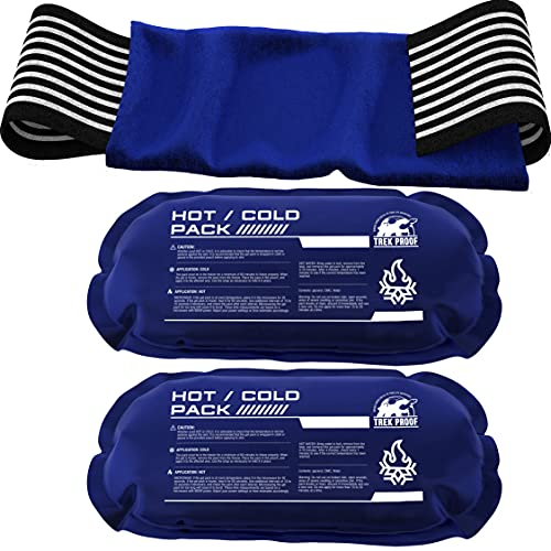 Ice Pack (3-Piece Set) – Reusable Hot and Cold Therapy Gel Wrap Support Injury Recovery, Alleviate Joint and Muscle Pain – Rotator Cuff, Knees, Back & More (3 Piece Set - Large)