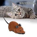 Crisis Ratones de Juguete, ratón inalámbrico Seguro con Control Remoto, Molde de ratón de Juguete de Rata Divertido, para Perro para Gato(Brown)