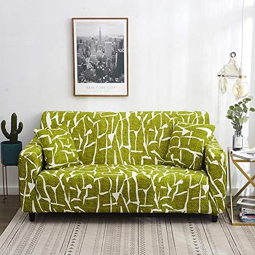 Funda de sofá de Siete plazas en Forma de L, Funda de sillón en Forma de L para Sala de Estar, Funda Protectora Elegante y Suave con Todo Incluido,Color5,1-Seat__90-140cm