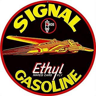 Sylty Signal Gasoline Sign Retro Dad Garage Man Cave Car Metal Tin Sign 12X12 Inch