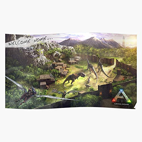 Anbugang Dinosaurs Game Survival Ark Evolved Steam Home Decor Wandkunst drucken Poster !