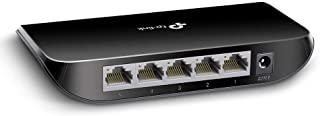 TP-Link TL-SG1005D 5-Port Desktop Gigabit Ethernet Switch/Hub, Network Splitter, Plug and Play, Plastic Case
