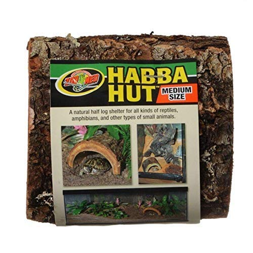 Zoo Med (3 Pack) Habba Hut Half Log Shelter for Reptiles Small Animals Medium