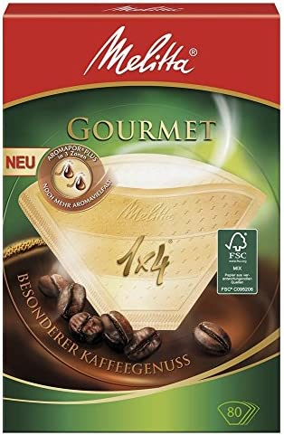 Melitta 6658076 Pack Original Size 1x4, 80, Filter Coffee Makers, Brown, Plastic