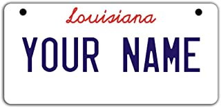 BleuReign(TM Personalized Custom Name Louisiana State Motorcycle Moped Golf Cart License Plate Auto Tag