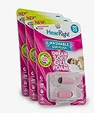 HearRight Dream Soft Ear Plugs Reusable Ear Plugs for Sleeping Foam Ear Plugs for Women (3-Pack)