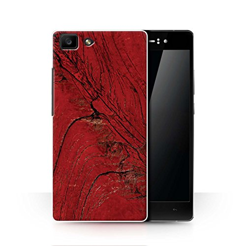 Stuff4 Hülle/Hülle für Oppo R5 / Holzmaserung/Baum Muster/Rote Mode Kollektion
