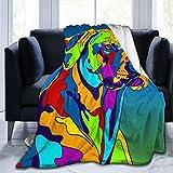 Funny Z Colorida Manta de Tiro para Perros Rhodesian Ridgeback, Manta de Franela Ultra Suave, sofá de Cama Ligero, Lujoso Invierno para Mujeres, Hombres, niños, 80 x 60 Pulgadas