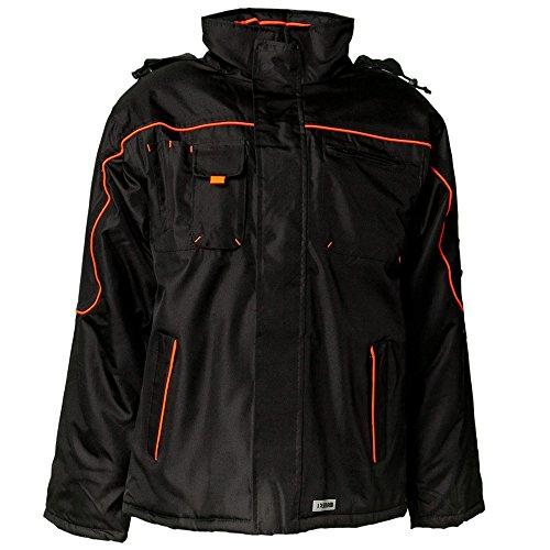 Planam 3535 Wetterjacke, schwarz/orange, XL
