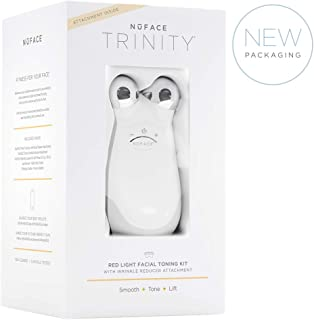 NuFACE Trinity Facial Trainer Kit with Wrinkle Reducer Attachment   Kit Includes Gel Primer   FDA Cleared At Home System