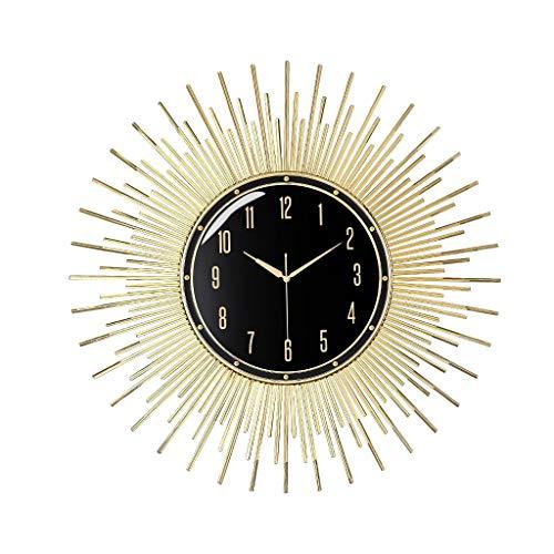 HERVI CYQ Wanduhr, Metall Sun Clock, kreative Wanduhr, Familie Wohnzimmer, Wandgestaltung, Kunst-Taktgeber, Zimmer, Haushalt Mode Stille Uhr, Moderne einfache Quarzuhr