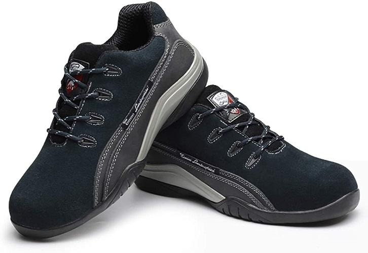 Bottes d'ingénieur Safety Trainer - Bottes de travail en acier léger - Bottes en acier - Chaussures de travail en acier léger - Chaussures de travail - Bottines - Randonneurs chaussures d'ingénierie