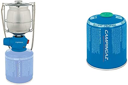 Campingaz Lumostar Plus PZ Lámpara con Gas, para Cartucho CV 470/Cv 300, Unisex, Azul