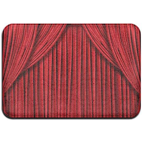 N/A Coole rote Vorhang Outdoor Gummimatte Vordertürmatten Veranda Garage Large Flow Slip Entry Teppich