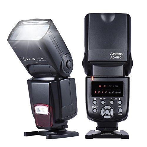 Andoer Flashes con Zapata Flash Speedlite para Cámara Canon Nikon Olympus Pentax...