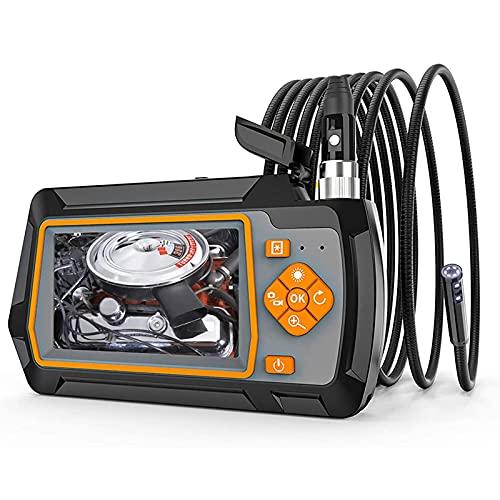 WPHGS Endoscopio industriale della fotocamera di ispezione 1080P Fotocamera Borscopio HD 1080P IP67 Video impermeabile Videocamera serpente con schermo IPS da 4,3 pollici 6 luci a LED semi rigidi semi