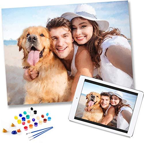 Pintura por Números Personalizada con Foto para adultos, Pintura Al Óleo Personalizada...