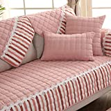 XFXDBT Scacchi Sofa Cover Cucitura Pizzo Decorativo Sectional Antiscivolo Qulited Griglia ...