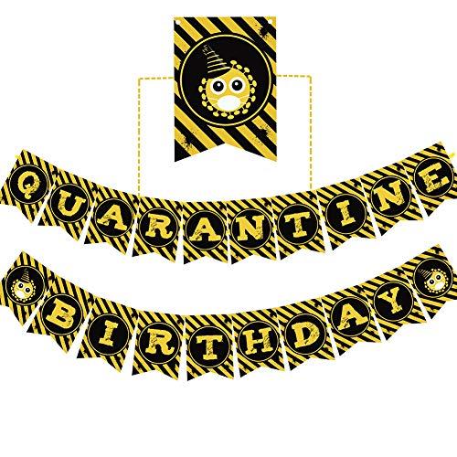 Quarantine Birthday Banner Party Favors Happy Birthday Party Supplies Baby Boy Girl Birthday Party Decoration