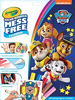 Crayola 75-7007 Wonder Paw Patrol Pages Mess Free Coloring, Gift for Kids, Age 3, 4, 5, 6