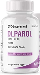 DLPAROL- Anxiety and Depression Support. one Month Supply, 100% Natural Supplement, Better Sleep Support, Stress Support, ...
