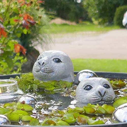Seehundkopf groß/klein - Schwimmtier für Miniteich