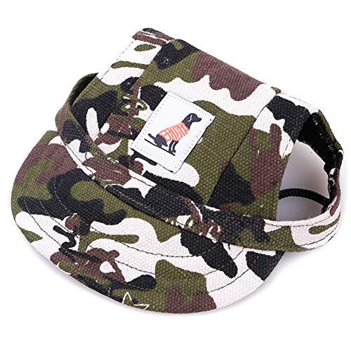 Gelentea Haustier-Baseballmütze für Hunde, verstellbar, mit Sonnenschutz, bedruckt, atmungsaktiv, weich, für Geburtstag, Weihnachten, Neujahr