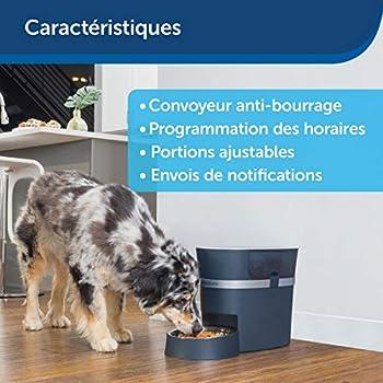 PetSafe Distributeur de Croquettes Connecté Smart Feed Smartphone (ADSL - iPhone ou iPod avec iOS 9, compatible Android smartphone 6.0) - 24 Tasses pour Chien/Chat – Portions ajustables