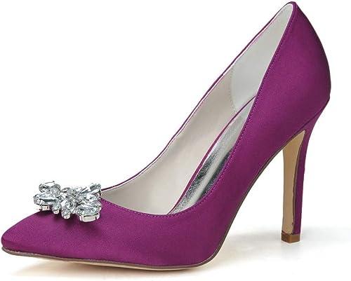 YUGUO Tacones Altos Damas Temperamento Decoración De Diamantes De Imitación zapatos De Tacón Alto Puntiagudo Fiesta De La Reunión Anual De Los zapatos De Los zapatos De La Fiesta
