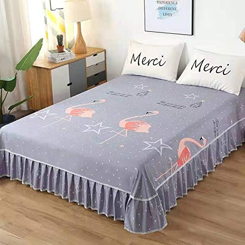 Gekräuselte Tagesdecke Bettrock Bettdecke Bettwäsche Rüschenbettgarnituren Elastische Decke Spitze Anti-Falten- / Anti-Rutsch- / Elastische maschinenwaschbare Spitze Chiffon