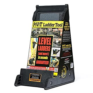 UNIVERSAL FIT - Use it to instantly level any ladder you have, including your step ladder. The PiViT even doubles as a stable platform that will hook onto ladder rungs STRONG - Supports up to 500 lbs. (227 kilos), exceeding the ladder's 300lb, 1A dut...