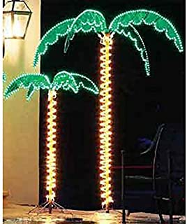 EEZ RV Products 7 Foot High Super Bright LED Lighted Tropical Palm Tree - 5 Times Brighter Than Incandescent Bulbs