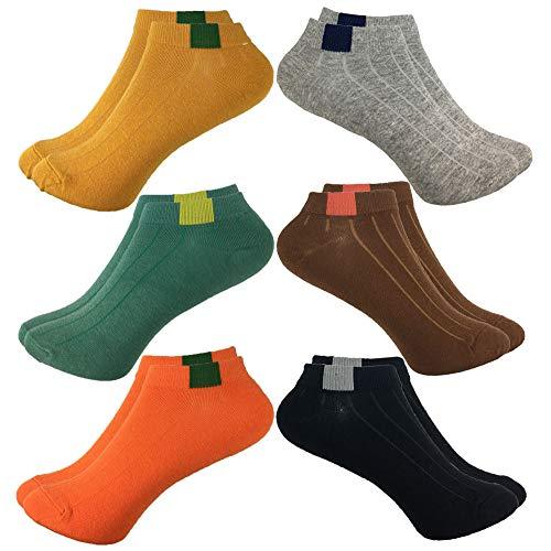 Calcetines ocasionales de corte bajo de 6 pares para niñas, calcetines cortos respirables de mujer para deportes al aire libre