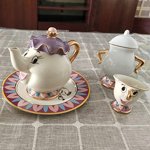 LLK Taza de la Tetera Mrs Chip Tea Pot Cup One Set Lovely Christmas Regalo
