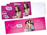 Set de invitaciones Violetta