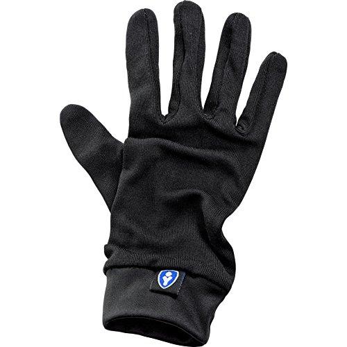 Thermoboy Unterziehhandschuhe Seiden-Unterziehhandschuh 1.0, Seide, tragen kaum auf, angenehm auf der Haut, Schwarz, XL