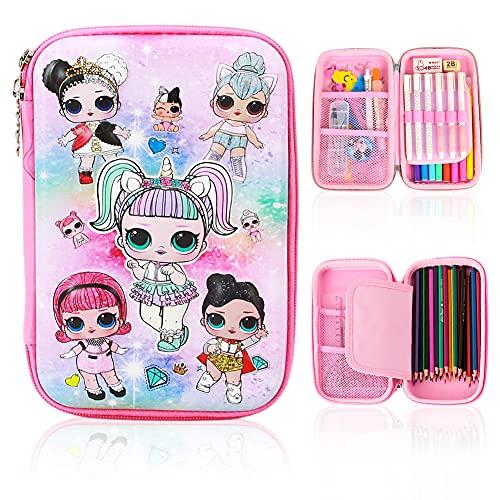ALHX Astuccio monostrato, 3D Pencil Case, Astuccio Bambina, Astuccio per Studenti, Scuola...