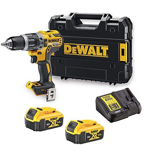 DeWalt DCD796N 18v XR Brushless Combi Drill 2X 5Ah DCB184 Batteries Charger Case
