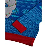 Blizzard Bay Men's Ugly Christmas Sweater Sea Creatures 8 Novelty holiday sweater Great with denim