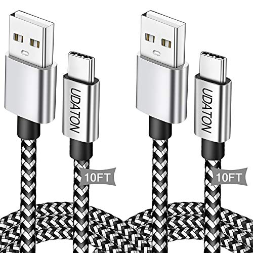USB C Cable 10FT Type C Charging Cable Fast Charger Android Phone/Tablet Charger Cord for Samsung Galaxy A50/A20/S20/S10/S10e/S9/S8 Note 20/10/9,Tab A 10.1(2019),New Fire HD 10 Tablet(9th)